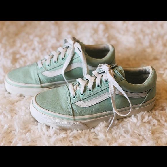 Vans Shoes | Vans Mint Green Old Skool